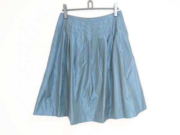 Ungaro(ウンガロ) スカート サイズ42 L レディース ネイビー プリーツ