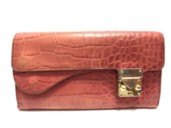 buy online 4543e 11197 1metre carre(アンメートルキャレ) 長財布 レッド 型押し加工 レザー
