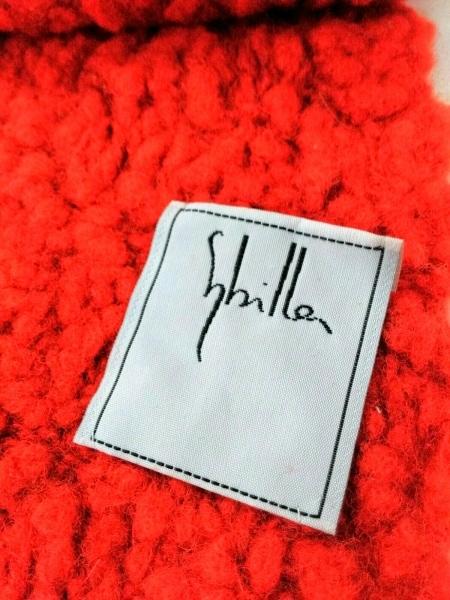 Sybilla(シビラ) マフラー美品  レッド ウール×ナイロン