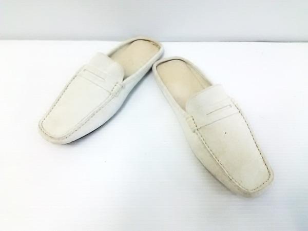 Loro Piana(ロロピアーナ) 靴 36 レディース アイボリー ルームシューズ スエード