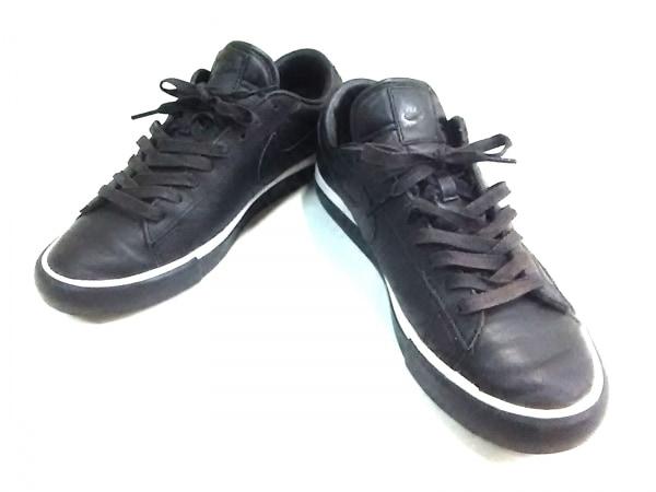 ブラックコムデギャルソン スニーカー メンズ BLAZER LOW 633699-001 黒×白 ×NIKE