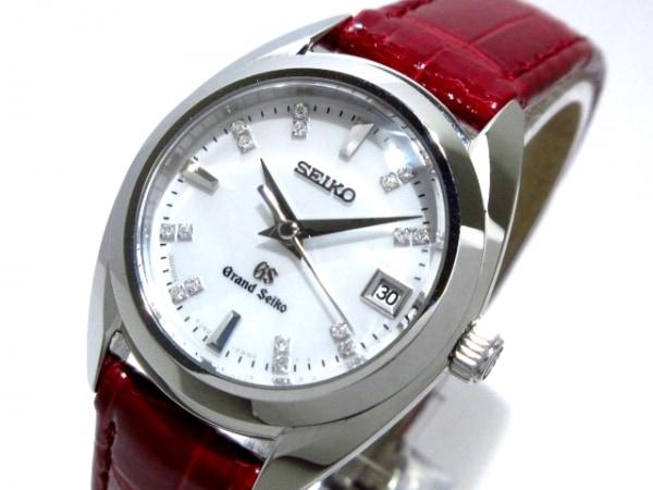 グランドセイコー 腕時計美品  4J52-0AC0 レディース 16Pダイヤ/シェル文字盤