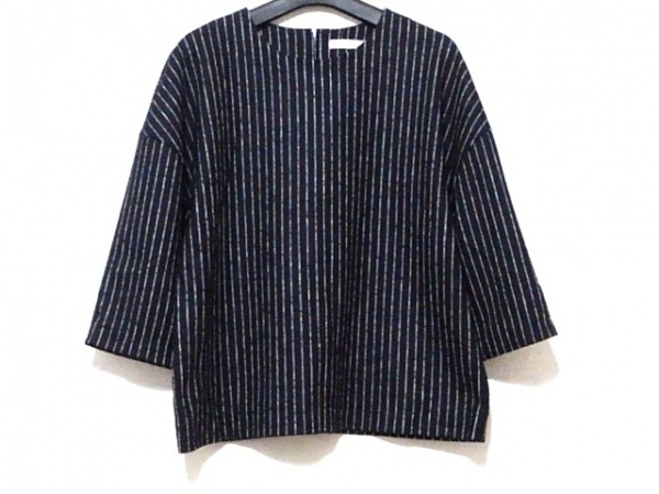 ASTRAET(アストラット) 七分袖カットソー レディース美品  黒×白 ストライプ