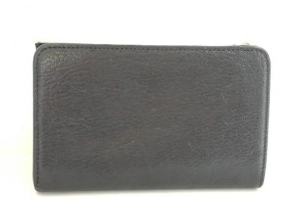 miumiu(ミュウミュウ) 3つ折り財布 - ベージュ×黒 リボン レザー 2
