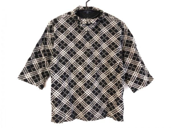 BURBERRYGOLF(バーバリーゴルフ) 七分袖ポロシャツ サイズLL メンズ 黒×白