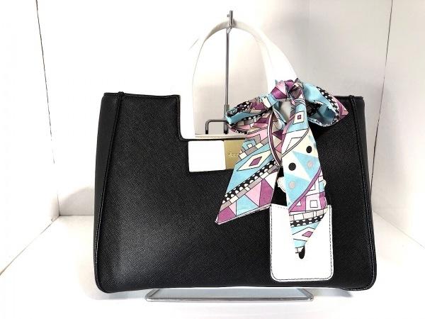 DAZZLIN(ダズリン) ハンドバッグ美品  黒×白 リボン 合皮