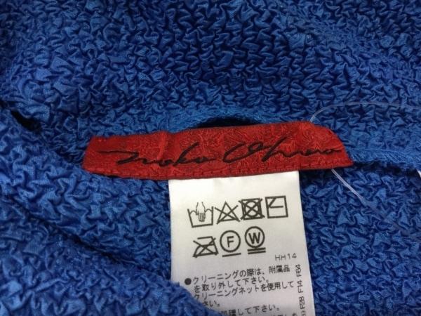 ノコオーノ カーディガン サイズ40 M レディース美品  ブルー×黒 シワ加工/フラワー