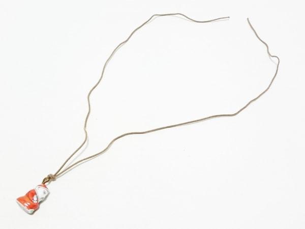 Herend(ヘレンド) ネックレス 陶器×化学繊維 レッド×白×マルチ
