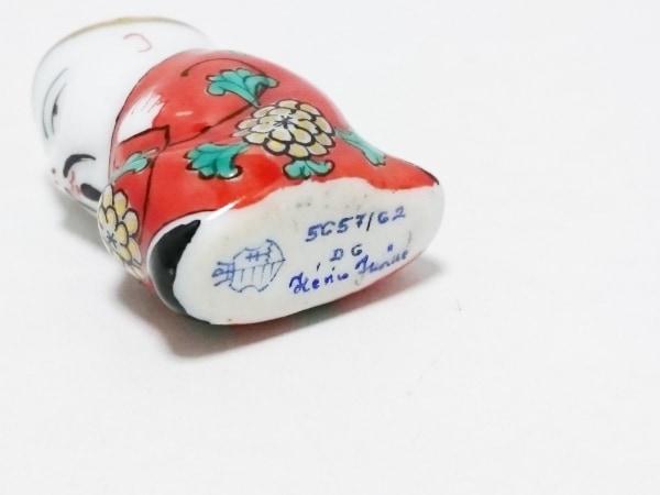 Herend(ヘレンド) ペンダントトップ 陶器 レッド×白×マルチ