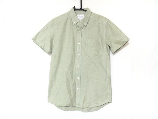 サタデーズ サーフ ニューヨーク 半袖シャツ サイズSMALL S メンズ ライトグリーン