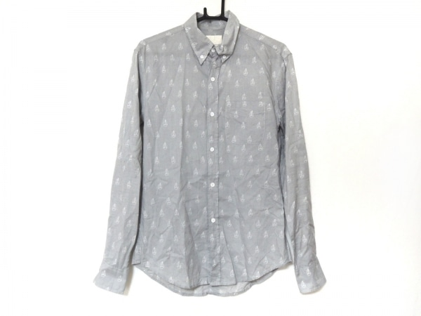 バンドオブアウトサイダーズ 長袖シャツ サイズ1 S メンズ美品  グレー×白