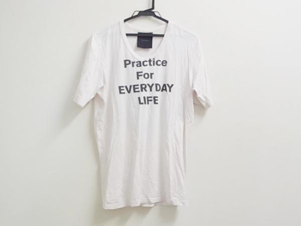 リップヴァンウィンクル 半袖Tシャツ サイズ4 XL メンズ ベージュ×ダークブラウン