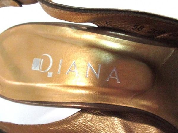 DIANA(ダイアナ) サンダル 23 1/2  レディース ブロンズ 5