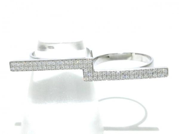 GEORG JENSEN(ジョージジェンセン) リング新品同様  K18WG×ダイヤモンド