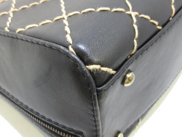 CHANEL(シャネル) ハンドバッグ ワイルドステッチ 黒 ゴールド金具 レザー