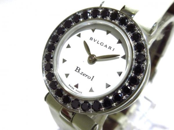 ブルガリ 腕時計 B-zero1 BZ22S レディース エナメルベルト/ブラックダイヤベゼル 白