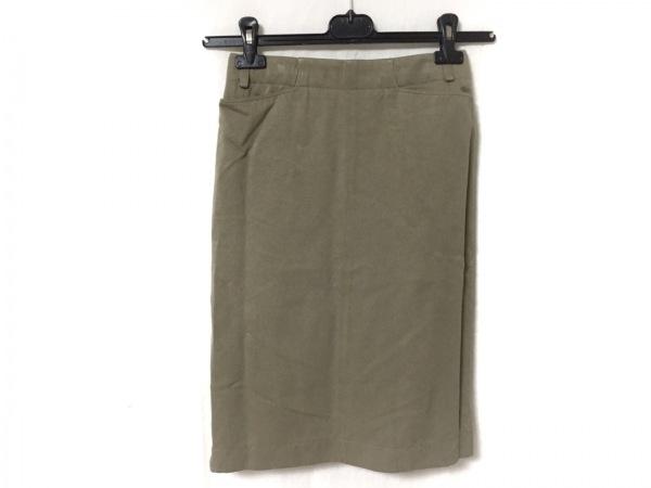 ALAIA(アライア) スカート サイズ38 M レディース美品  カーキ