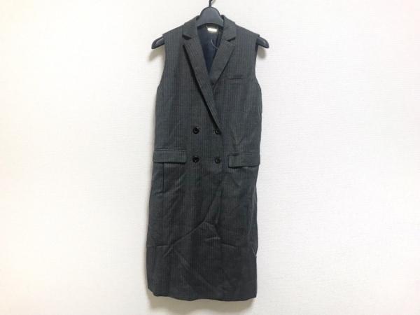 Loungedress(ラウンジドレス) コート サイズF レディース美品  ダークグレー×グレー
