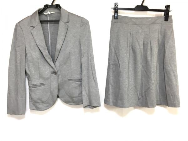 組曲 KUMIKYOKU(クミキョク) スカートスーツ サイズ2 M レディース グレー