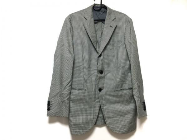 STRASBURGO(ストラスブルゴ) ジャケット メンズ 黒×白 チェック柄