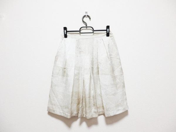 CalvinKlein(カルバンクライン) スカート サイズ2 M レディース 白×ベージュ
