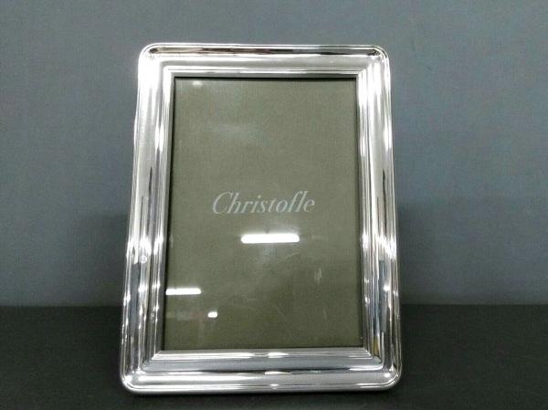 クリストフル 小物美品  シルバー×クリア 写真立て 金属素材×ガラス×プラスチック