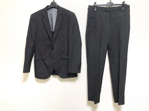 MALE&Co(メイルアンドコー) シングルスーツ サイズA6 メンズ美品  黒×白 ストライプ