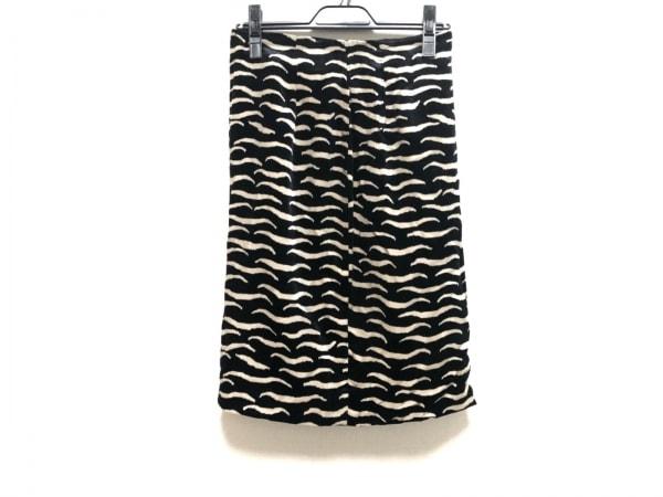 ジャンニヴェルサーチ スカート サイズ42 M レディース 黒×アイボリー ベロア