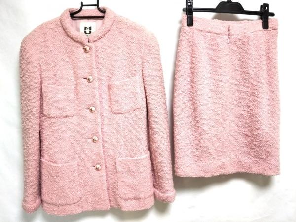 ミュゼドウジ スカートスーツ サイズ40 M レディース美品  ピンク ツイード