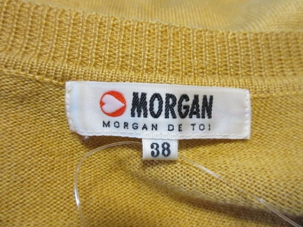 MORGAN(モルガン) ワンピース サイズ38 M レディース イエロー×黒 ニット