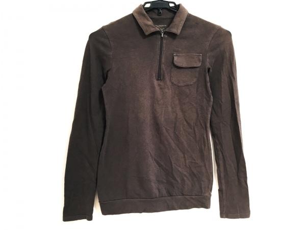 ルヴェルソーノアール 長袖ポロシャツ サイズ38 M レディース ダークブラウン