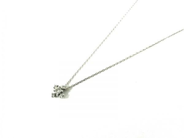 ノーブランド ネックレス美品  K18×ダイヤモンド クリア 総重量:1.9g