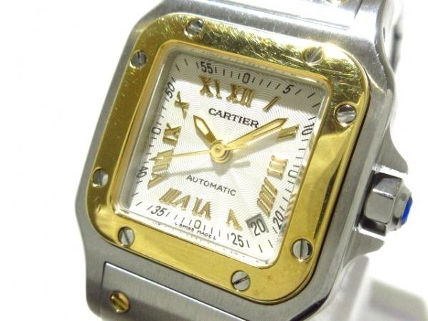カルティエ 腕時計美品  サントスガルベSM W20045C4 レディース SS×K18YG 白