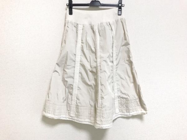 リコヒロコビス スカート サイズ11 M レディース美品  ベージュ×アイボリー
