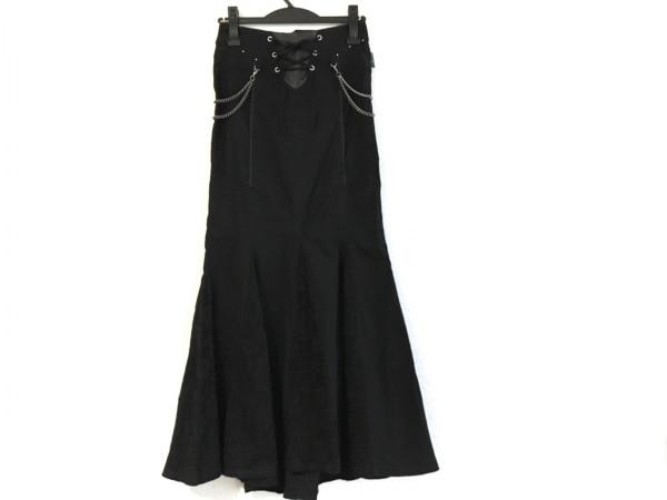 OZZONESTE(オッズオン) ワンピース レディース美品  黒×シルバー 刺繍/花柄/レース