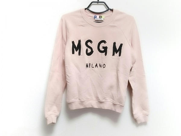 MSGM(エムエスジィエム) 長袖カットソー サイズXS レディース新品同様  ピンク×黒