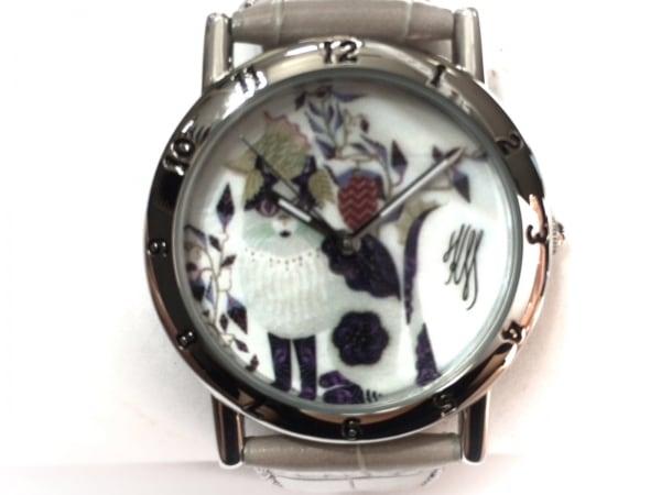 ピエールラニエ 腕時計美品  476A689 レディース KLAUS HAAPANIEMI 白×黒×マルチ