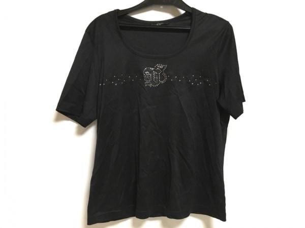 バレンザスポーツ 半袖Tシャツ サイズ40 M レディース 黒 刺繍/ラインストーン