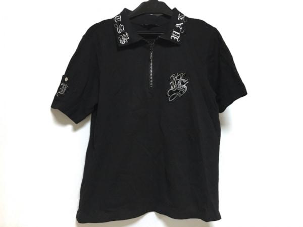 バレンザスポーツ 半袖ポロシャツ サイズ40 M レディース美品  黒×白