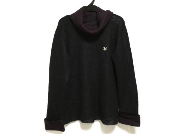 バレンザスポーツ 長袖セーター サイズ40 M レディース美品  黒×パープル