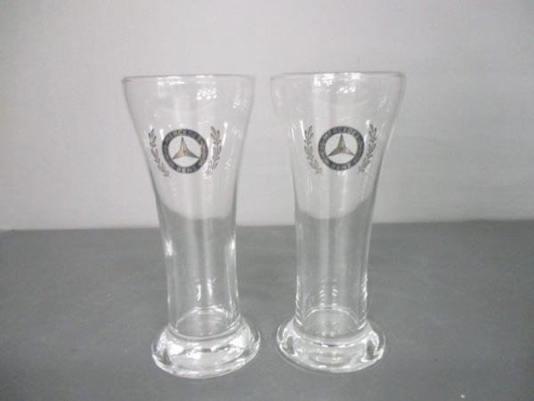 メルセデスベンツ ペアグラス新品同様  クリア オリジナルペアタンブラー ガラス