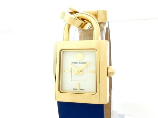 TORY BURCH(トリーバーチ) 腕時計美品  TB7008 レディース 革ベルト アイボリー