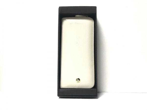 MONTBLANC(モンブラン) ペンケース アイボリー ラウンドファスナー レザー