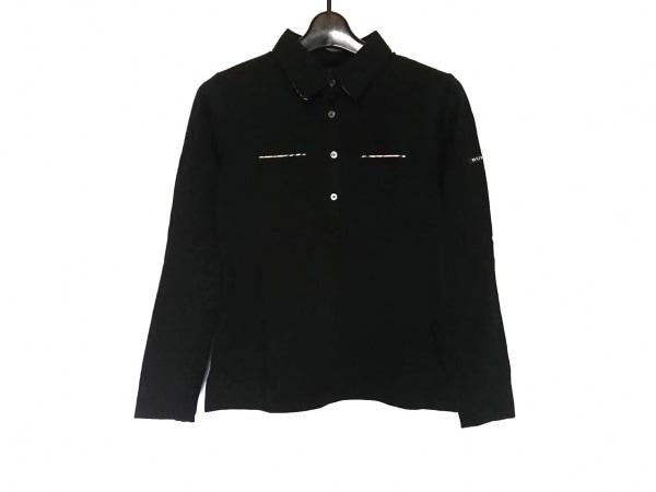 BURBERRYGOLF(バーバリーゴルフ) 長袖ポロシャツ サイズM レディース美品  黒