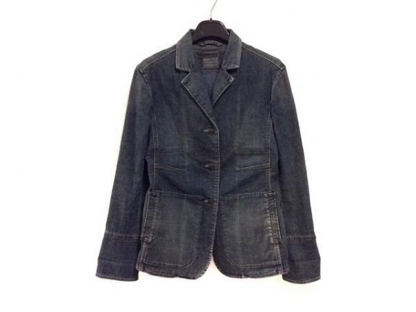 マリテフランソワジルボー ジャケット サイズM レディース美品  ネイビー デニム