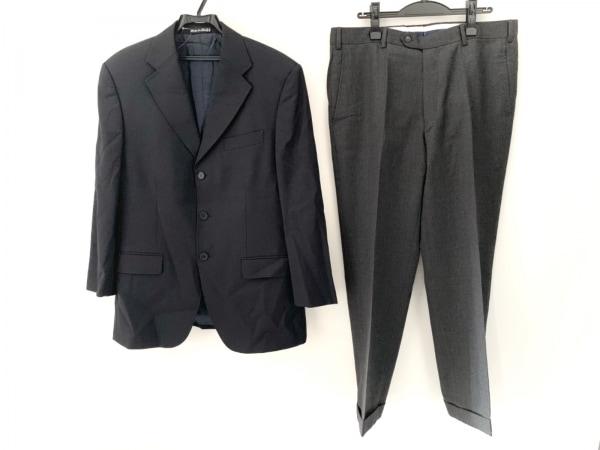 BOGGI(ボッジ) シングルスーツ サイズ50 メンズ美品  ダークネイビー×ダークグレー