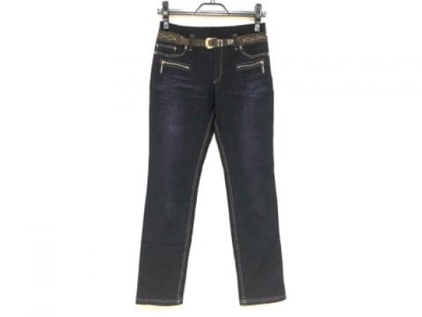 HIROKO BIS(ヒロコビス) パンツ サイズ9 M レディース ネイビー だまし絵