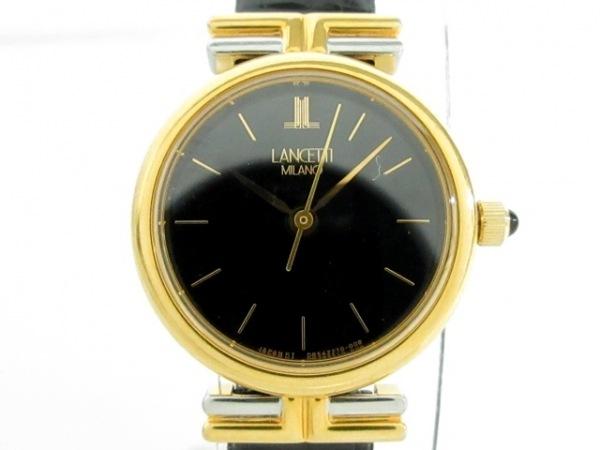 LANCETTI(ランチェッティ) 腕時計美品  D85227-00 レディース 黒