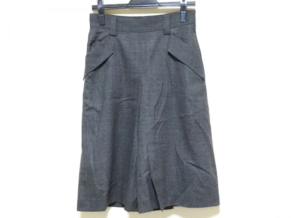 MACPHEE(マカフィ) パンツ サイズ38 M レディース グレー×黒 プリーツ/チェック柄