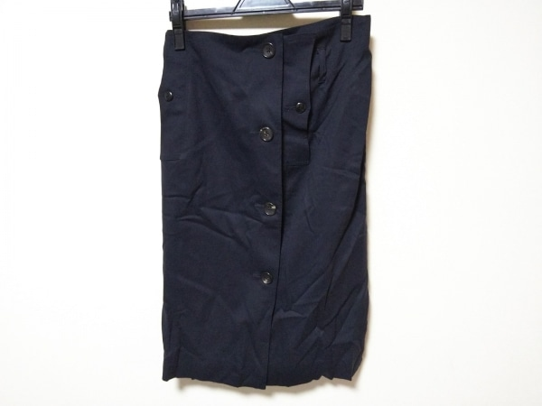 Adam et Rope(アダムエロペ) スカート サイズ38 M レディース美品  ネイビー